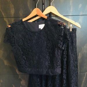J. Crew floral lace shirt